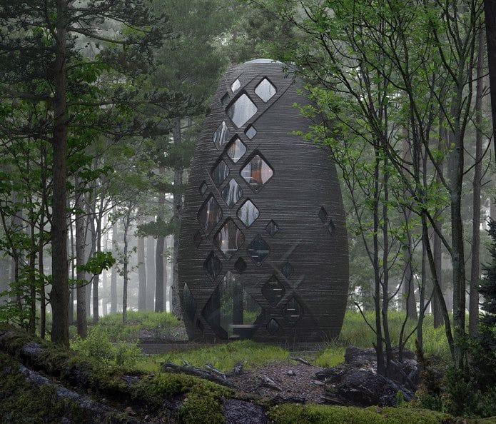 3D Printed TERA habitat [Source: AI Spacefactory]