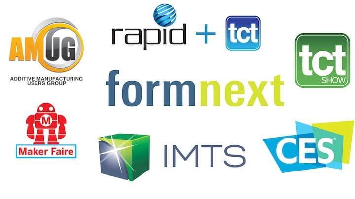 Major 3D print events worldwide [Source: Fabbaloo]