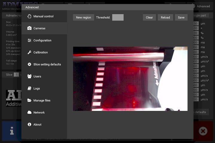 Process monitoring system for ceramic 3D printing [Source: Admatec]