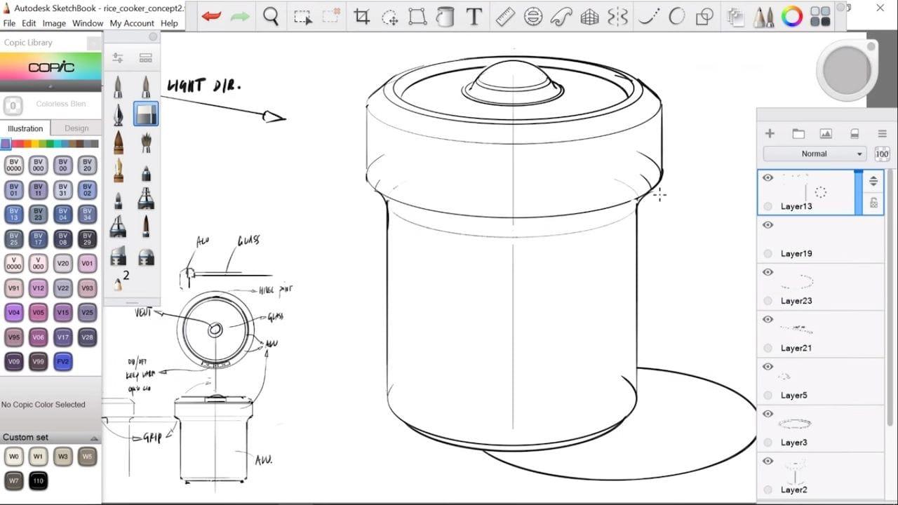 Industrial Designer Turned Concept Artist Shows His Process Using Autodesk Sketchbook