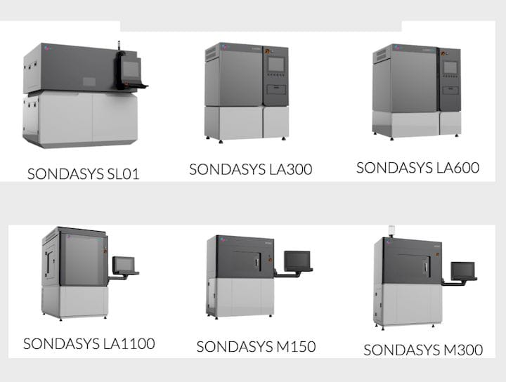 The current SondaSys 3D printer lineup [Source; SondaSys]