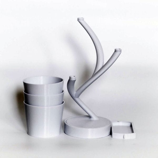 Parts for the 3D printed Biohazard planter [Source: MyMiniFactory]