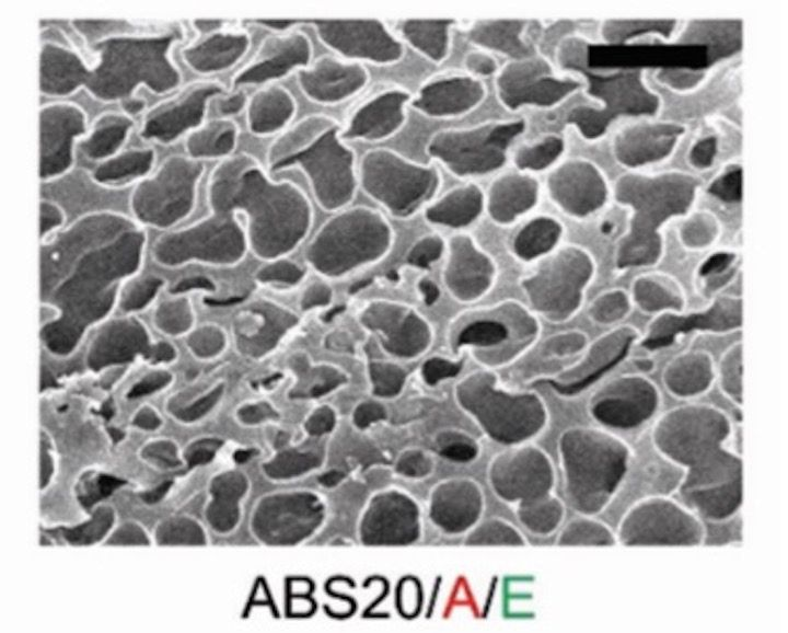Sample 3D print of porous ABS material [Source: Royal Society of Chemistry]