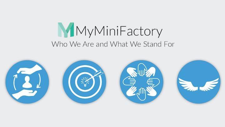 MyMiniFactory's values [Source: MyMiniFactory]