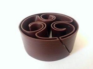 A taller chocolate 3D print [Source: La MIAM Factory]