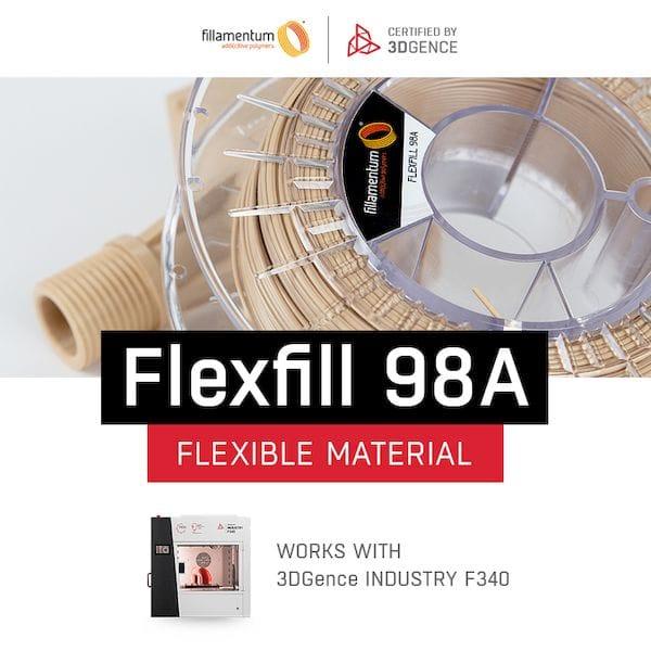3DGence Certifies Flexible Filament