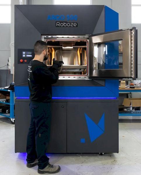 How does Roboze manufacture the huge Argo 500? [Source: Roboze]