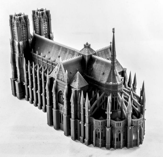 Full cathedral 3D print made on the NP1 3D printer [Source: NewPro3D]