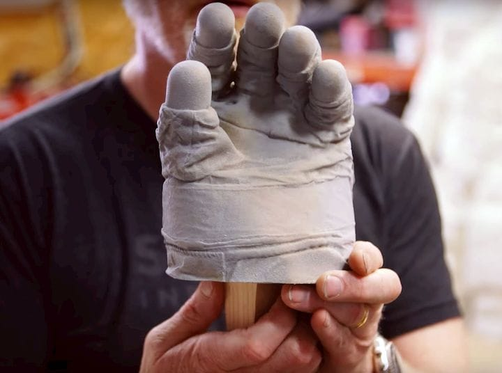 Highly detailed 3D print of a 3D scan of Neil Armstrong's lunar glove [Source: YouTube]