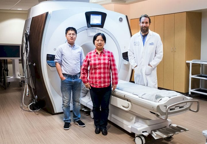 Boston University researchers Xiaoguang Zhao, Xin Zhang, and Stephan Anderson [Source: Boston University]