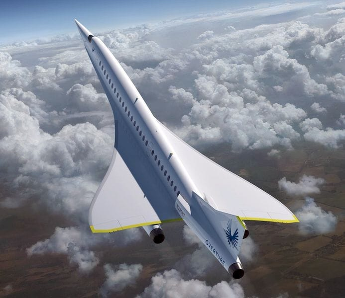 The Boom Supersonic Overture supersonic airliner will be made from 3D printed parts by Stratasys [Source: Boom Supersonic]