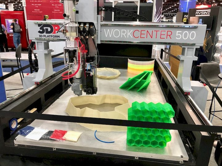 3D Platform's Huge WorkCenter 500 Large Format 3D Printer