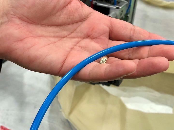 Thick 6mm 3D printer filament from 3D Platform. Rigid! [Source: Fabbaloo]