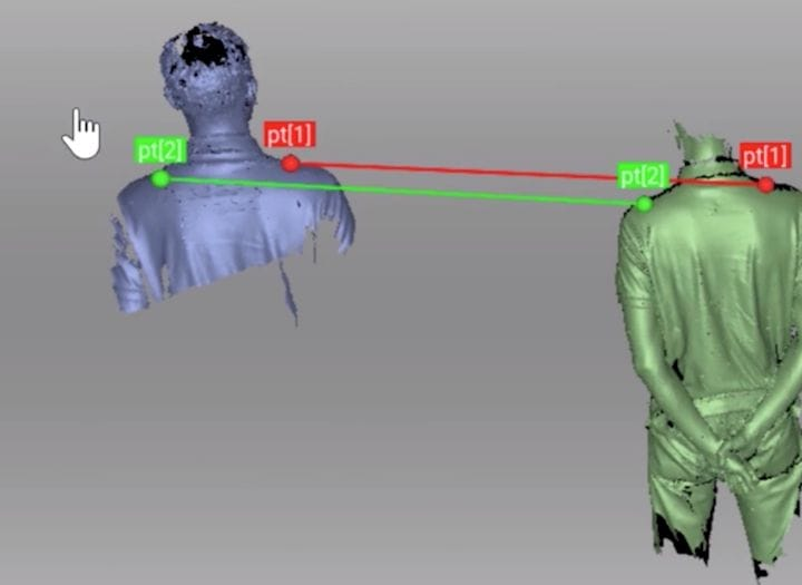 Artec Studio 14 can join two 3D scans together very easily [Source: Artec 3D]