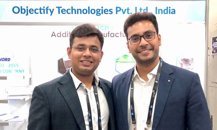 Ankit Sahu, CEO, and Arpit Sahu, Director, both of Objectify Technologies [Source: Fabbaloo]