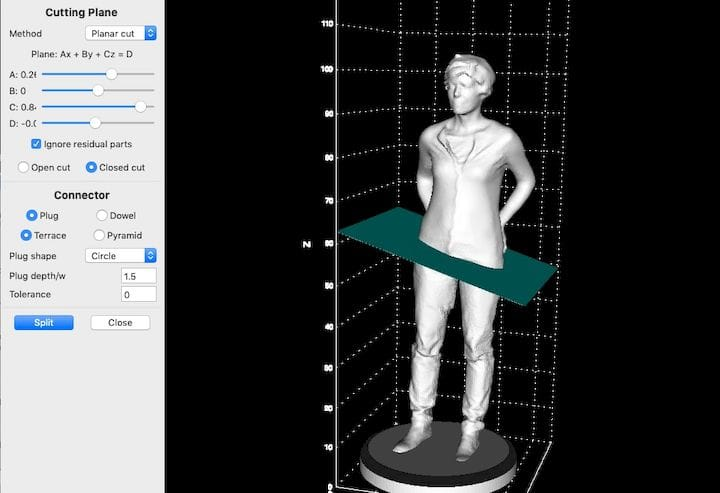 Chopping up a 3D model in LuBan [Source: Fabbaloo]