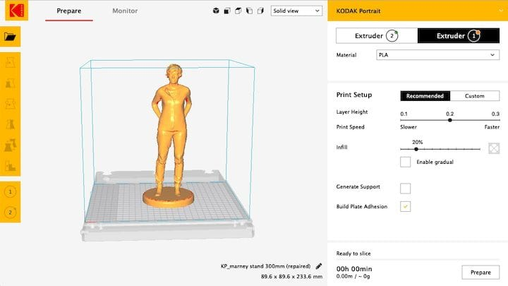 Hands On With The Kodak Portrait 3D Printer: Basic Operations
