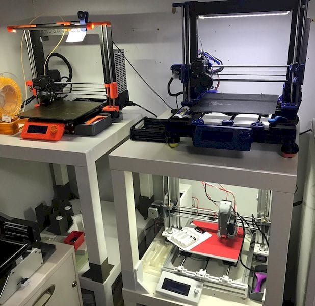 Some of Au's 3D printers [Source: Eric Au]