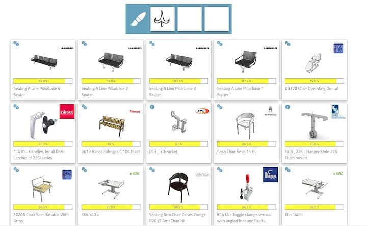 Search results from 3Dfind.it based on a sketch search [Source: Fabbaloo]