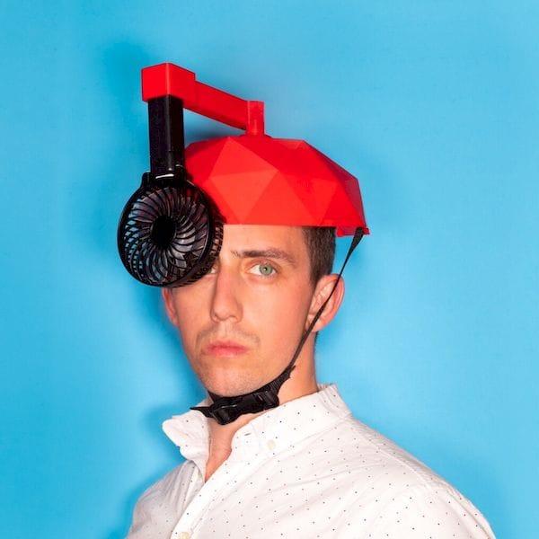 The entirely useless Helmet Fan [Source: Matt Benedetto]