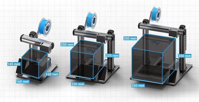 The Snapmaker 2.0 multitool 3D printer comes in three models [Source: Kickstarter]
