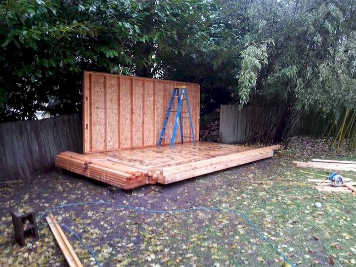 Preparing the base for the DIY backyard workshop [Source: SolidSmack]