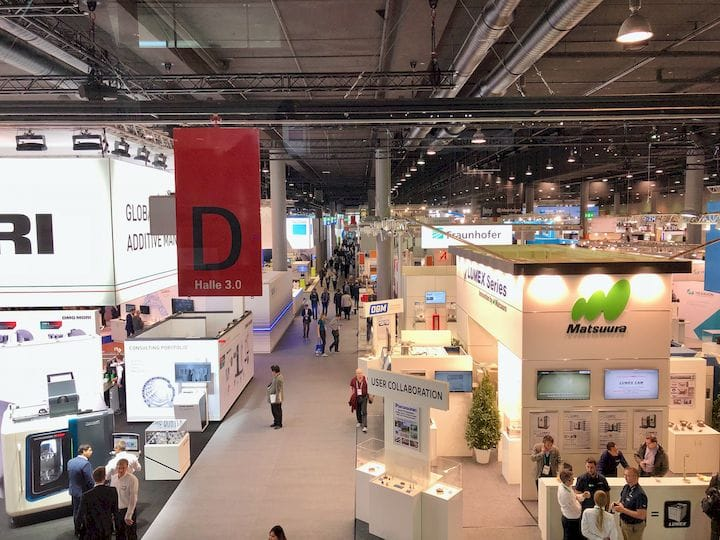 A view of a small part of the Formnext 3D print tradeshow [Source: Fabbaloo]