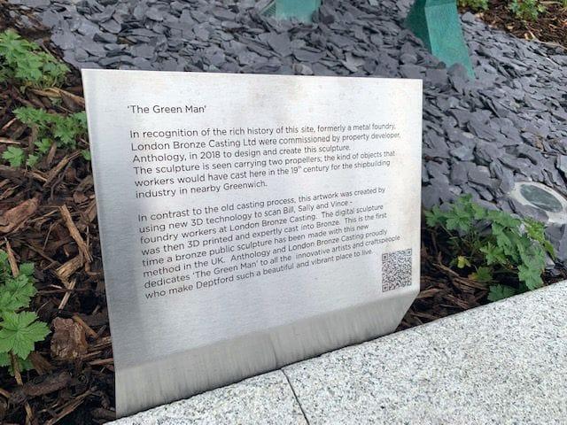 The Green Man sculpture's dedication in London [Source: voxeljet]