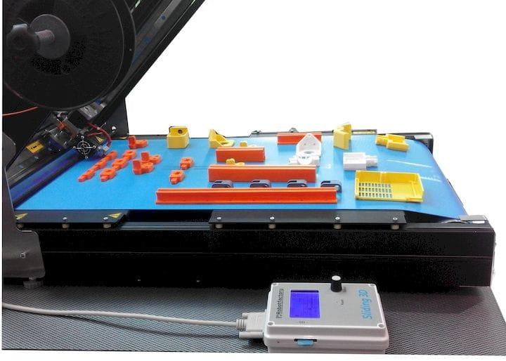 The belt-printing concept on the Sliding-3D PLUS 3D printer [Source: Robotfactory]