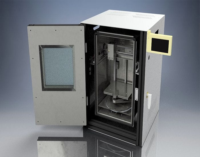 A build-your-own high-temperature 3D printer? [Source: igus GmbH]