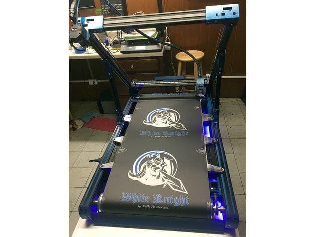 The White Knight belt 3D Printer [Source: Thingiverse]