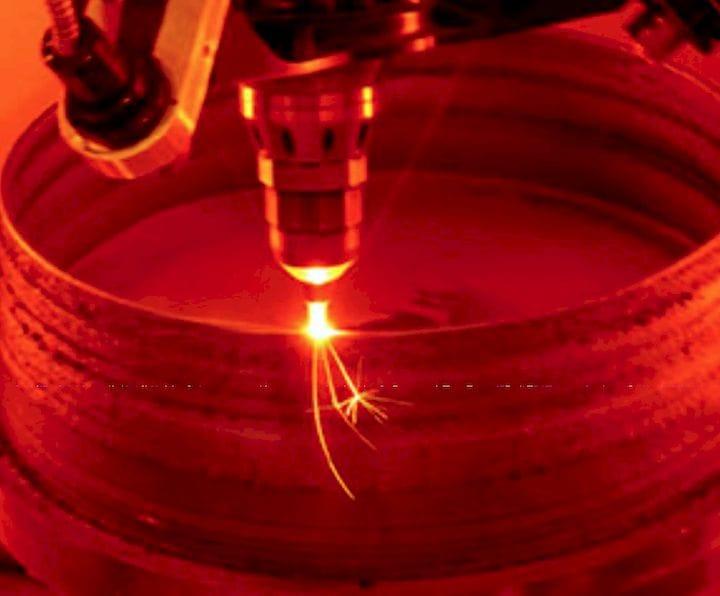 Freeform blown powder additively making a rocket nozzle [Source; NASA]