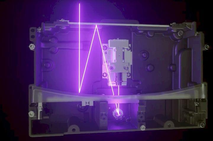The unusual Form 3 uniform laser illumination system [Source: Formlabs]