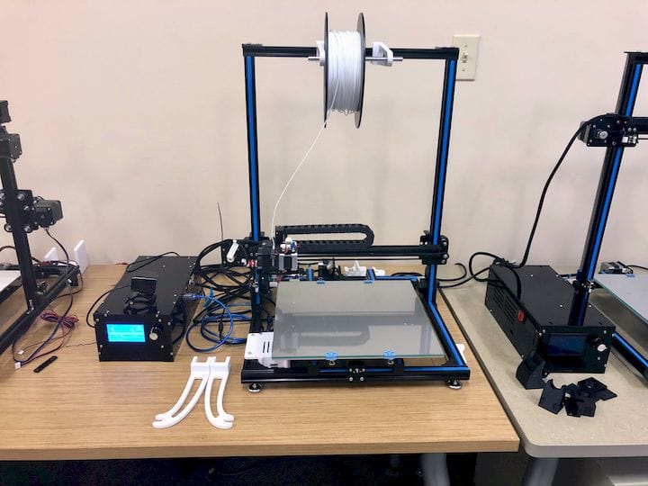 A typical desktop 3D printer that might be used in a school setting [Source: Fabbaloo]
