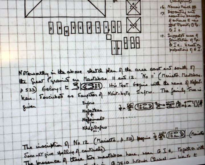 Handwritten notes from a 1924 Egyptology expedition [Source: Fabbaloo]