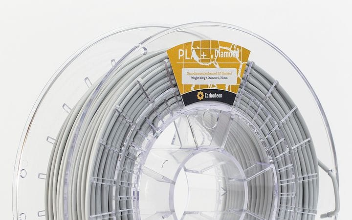A spool of diamond-infused 3D printer filament [Source: Carbodeon]