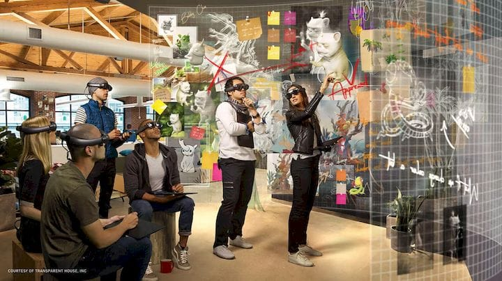 Augmented reality experience [Source: Transparent House]