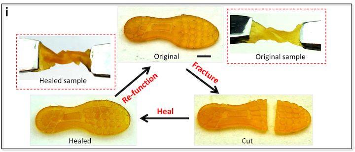 , A Self-Healing 3D Printed Elastomer