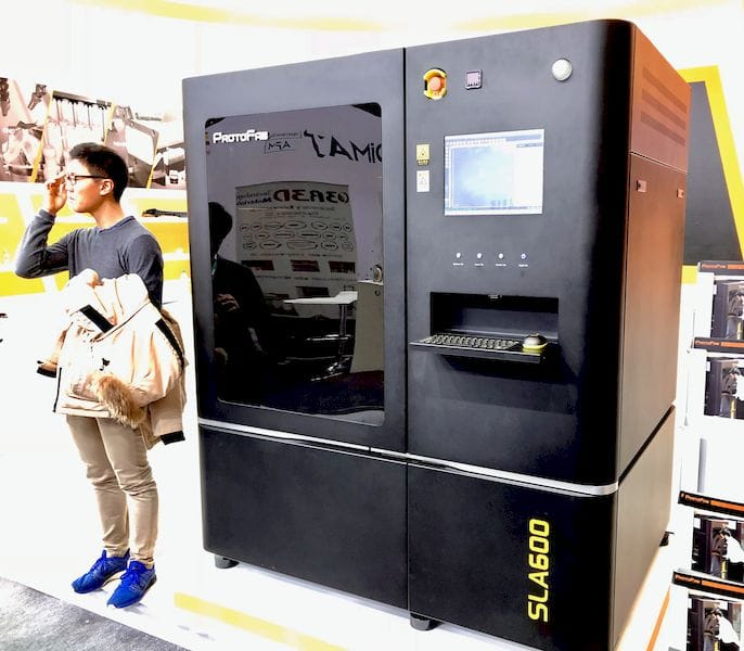 The ProtoFab SLA600 industrial 3D printer [Source: Fabbaloo]
