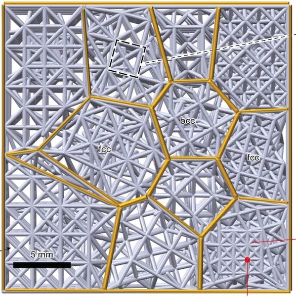 3D Printing Metacrystals To Increase Strength