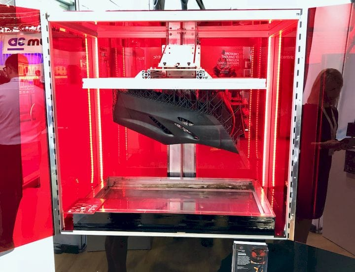 The enormous LC Maximus resin 3D printer [Source: Fabbaloo]