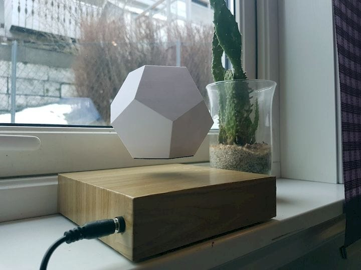 An incredible levitating planter [Source: Instructables]