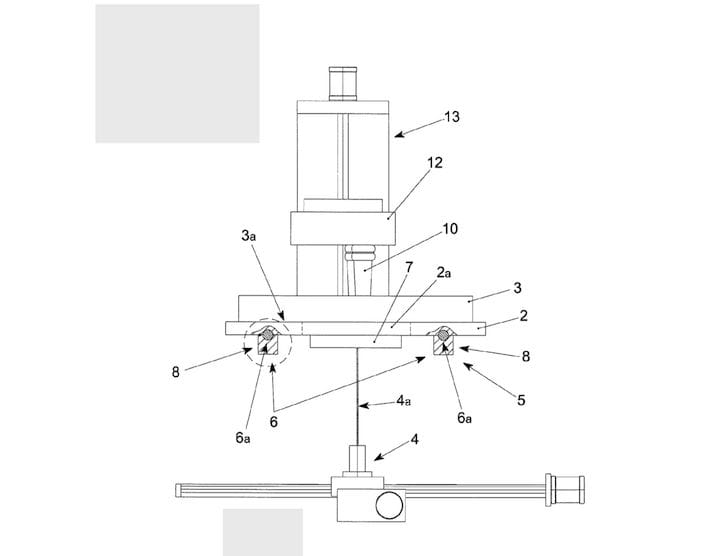 Image from DWS' patent for their SLA 3D printer [Source: Google Patents]
