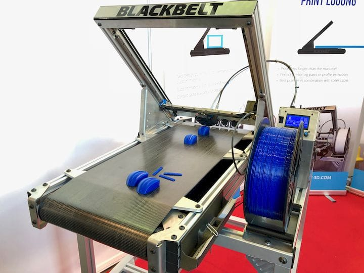 The BlackBelt continuous 3D printer [Source: Fabbaloo]