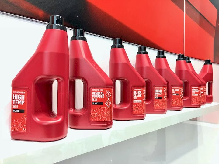 A selection of Loctite-branded 3D printer resins from Henkel [Source: Fabbaloo]