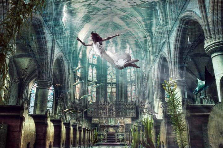 Diving in abandoned future cities with 3D printed gills [Source: Kathryn Strudwick]