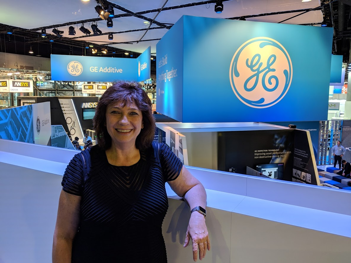 Christine Furstoss, Vice President and Chief Technology Officer, GE Additive at formnext 2018 [Image: Fabbaloo]