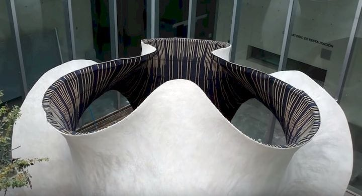 KnitCandela, a concrete structure made with a 3D fabric [Source: ETH Zurich]
