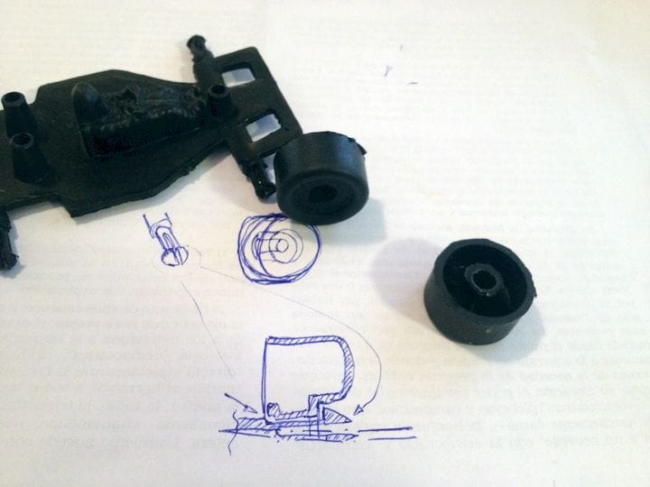 Sketching parts needing repair before actual 3D design [Source: Thingiverse]