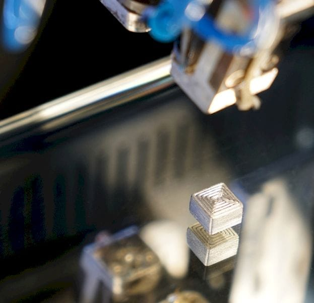 A much harder metal 3D print made from special filament [Source: Fraunhofer Institute]